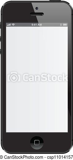 Black isolated phone - csp11014157
