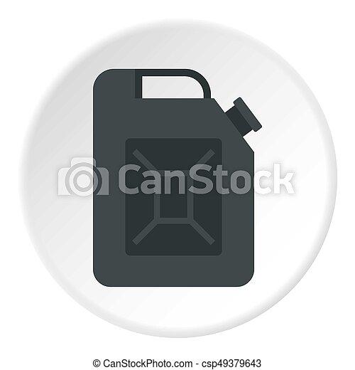 Black jerrycan icon circle - csp49379643