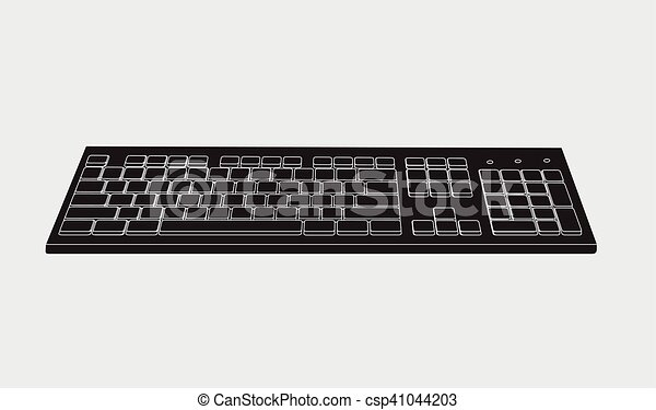 Black Keyboard Vector - csp41044203