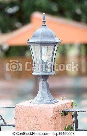 Black lantern of modern. - csp19469003