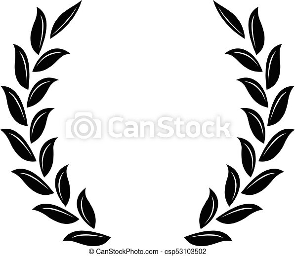 black laurel wreath a symbol of the winner wheat ears icon rh canstockphoto com laurel wreath clipart free gold laurel wreath clipart