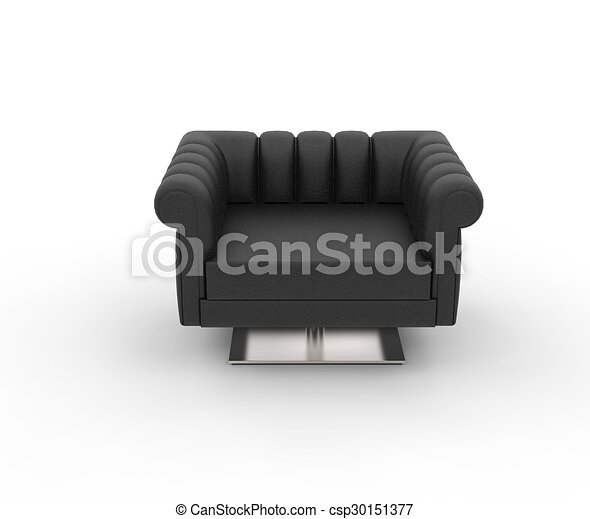 Black Leather Armchair   Top View   Csp30151377