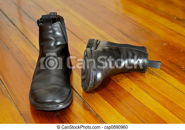 black leather boots - csp0890960