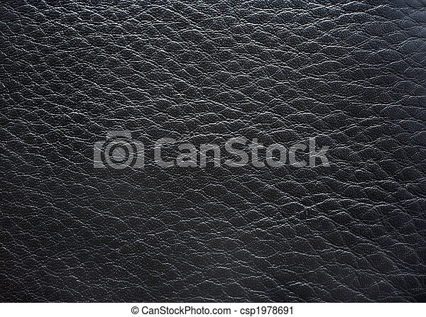 Black leather close up photography as background. - csp1978691