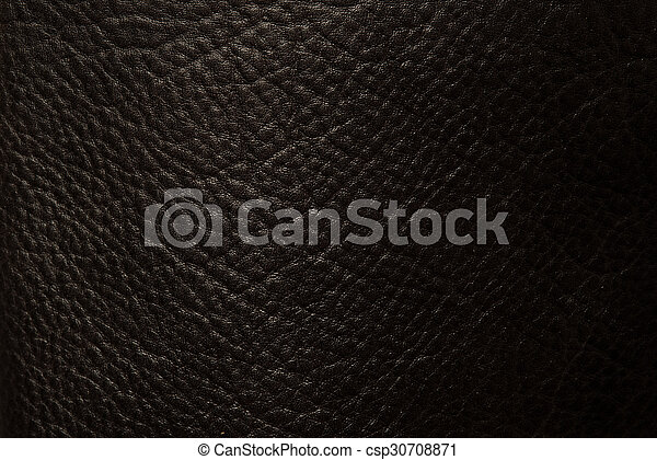 Black leather close up - csp30708871