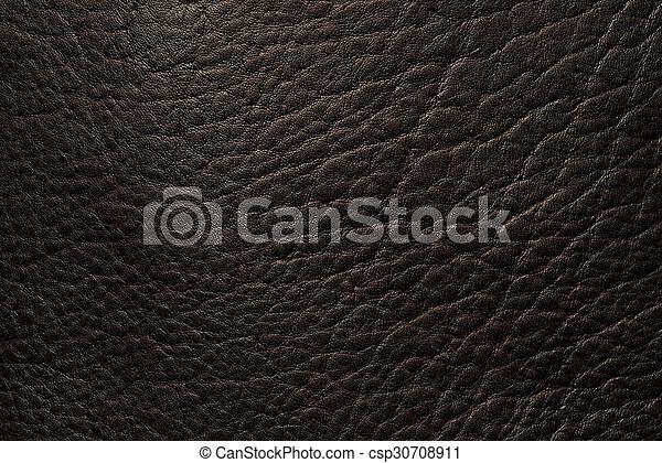 Black leather close up - csp30708911