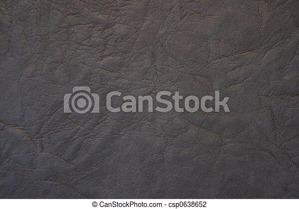 Black leather close up - csp0638652