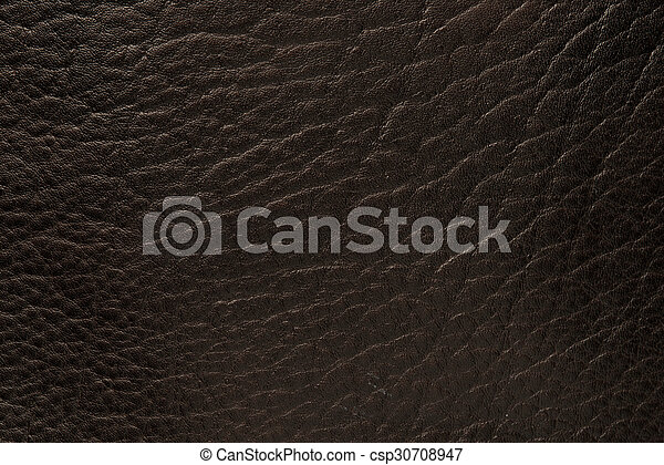 Black leather close up - csp30708947