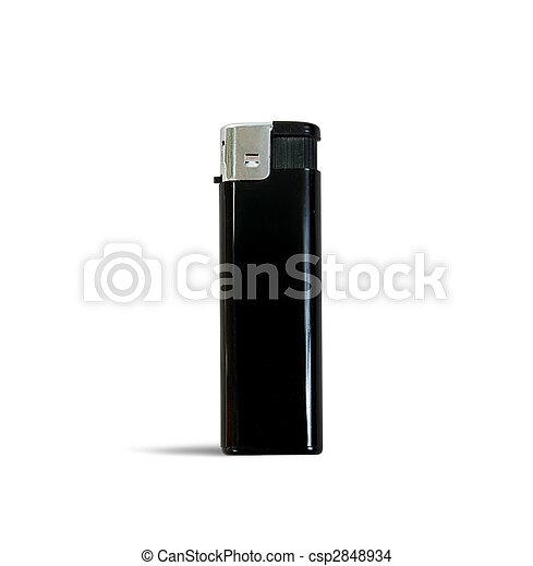 Black lighter over white   - csp2848934