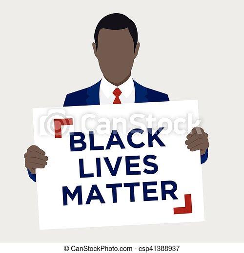 Black Lives Matter Illustration - csp41388937
