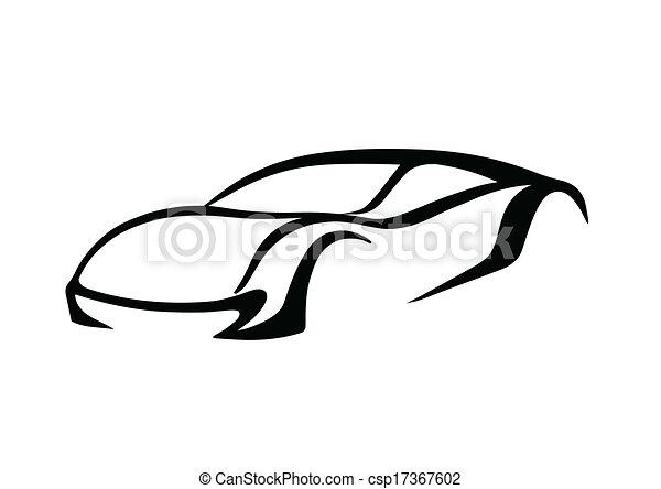 Black logo of auto - csp17367602