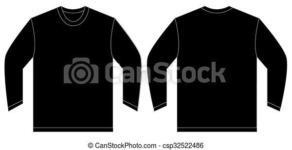 Black long sleeve t shirt design template vector illustration of black long sleeve t shirt design template csp32522486 maxwellsz