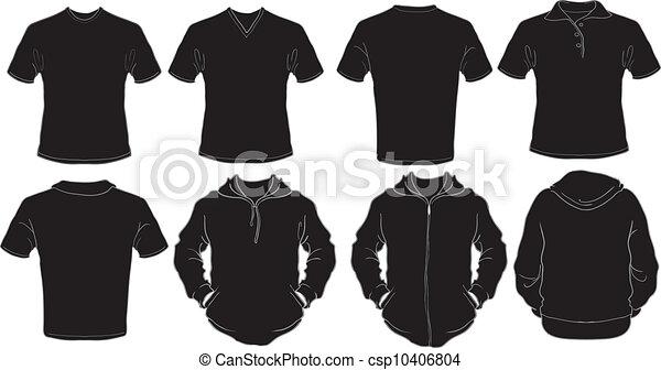 Black male shirts template - csp10406804