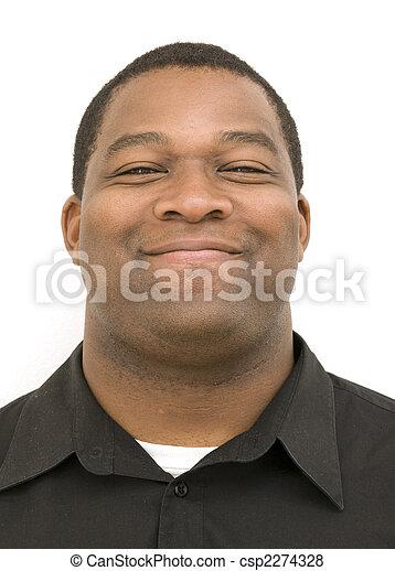 Black Male with Smirk - csp2274328
