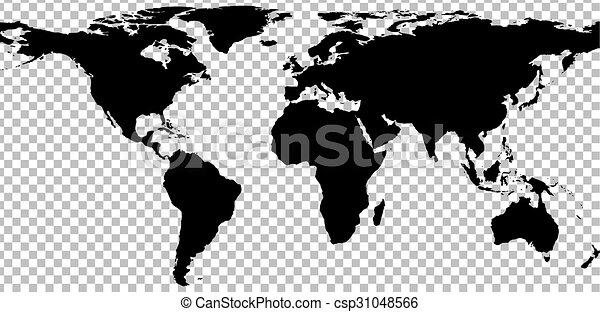 Black map of world on transparent background vector illustration black map of world on transparent background csp31048566 gumiabroncs Choice Image