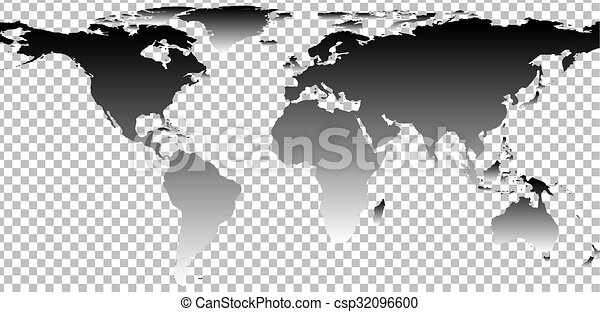 Black map of world on transparent background vector vector black map of world on transparent background csp32096600 gumiabroncs Images