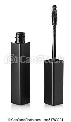 black Mascara brush isolated on white background - csp81763224