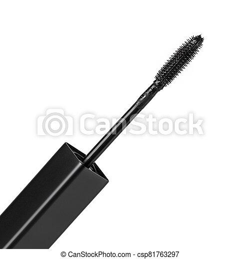 black Mascara brush isolated on white background - csp81763297