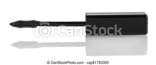 black Mascara brush isolated on white background - csp81763300