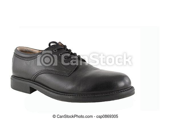Black Mens Shoe - csp0869305
