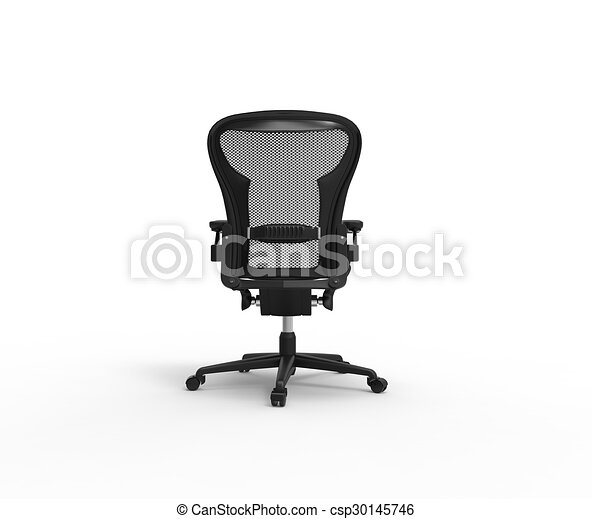 Black Modern Office Chair Back View
