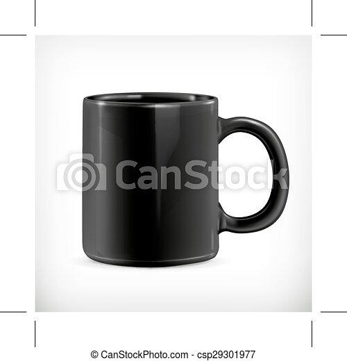 Black mug illustration - csp29301977
