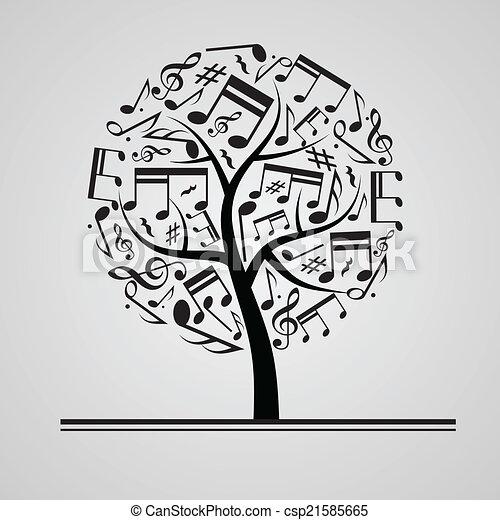Black music tree - csp21585665