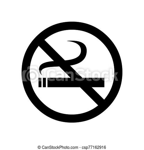 Black No Smoking Symbol For Banner General Design Print And Websites Illustration Vector