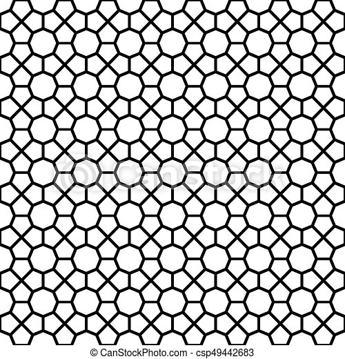 Black octagon shape pattern background