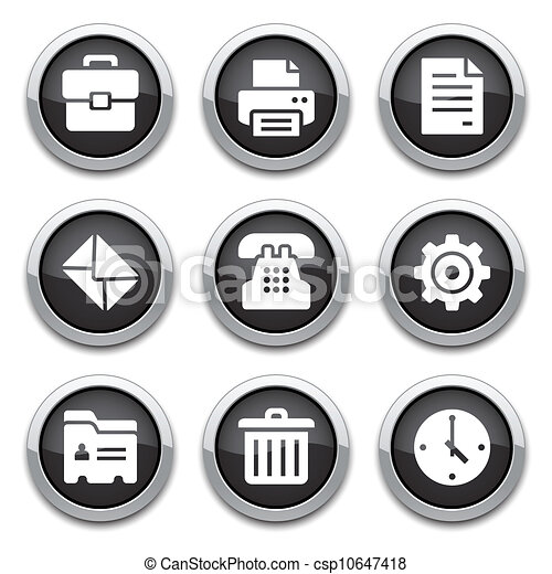 black office buttons - csp10647418
