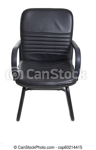 Chair With Wheels >> Black Office Chair With Wheels On White