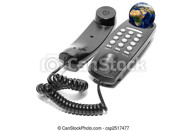 black office phone - csp2517477