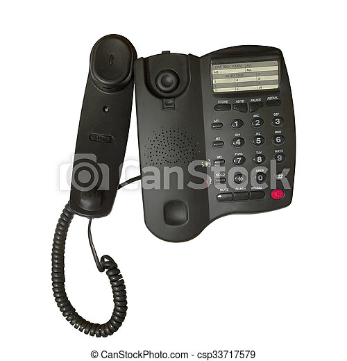 Black office phone - csp33717579