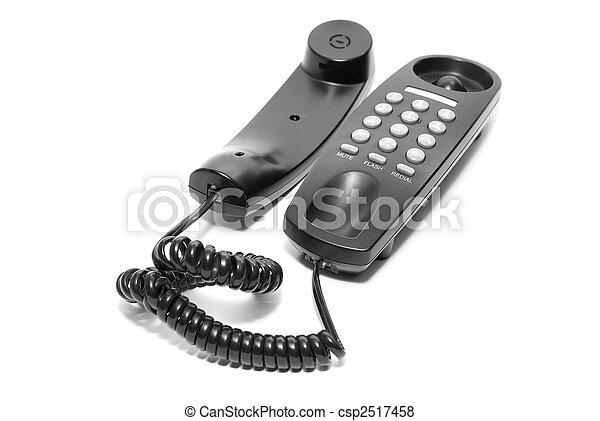 black office phone - csp2517458