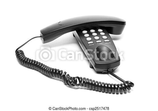black office phone - csp2517478