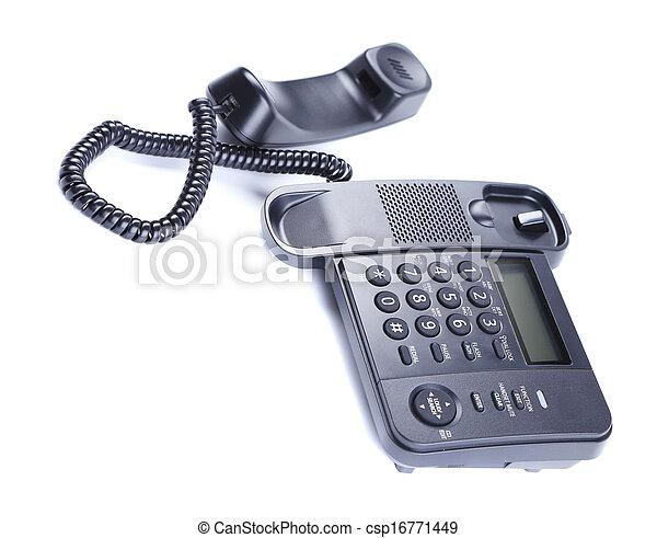 Black Office Phone. - csp16771449