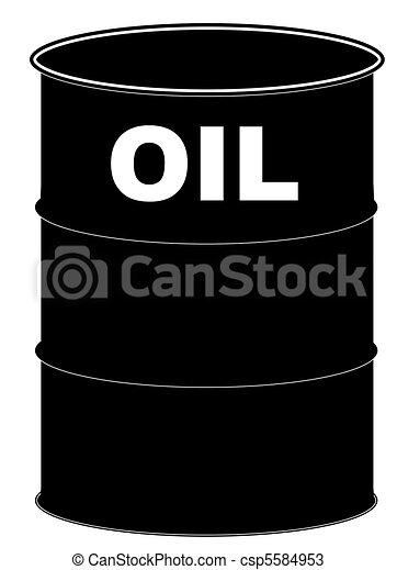 black oil barrel on white background