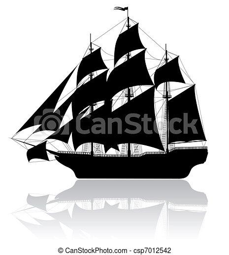 Black old ship - csp7012542