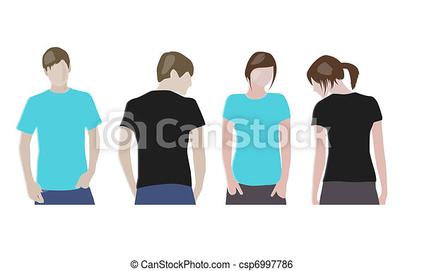 T Shirt Design Line Art : Black orange t shirt design templates front & back on clip art
