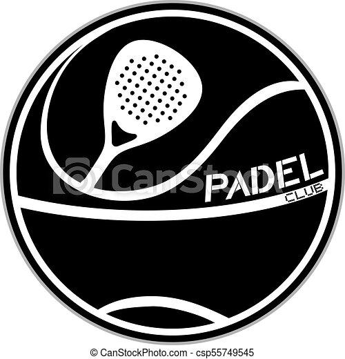 black padel club symbol - csp55749545