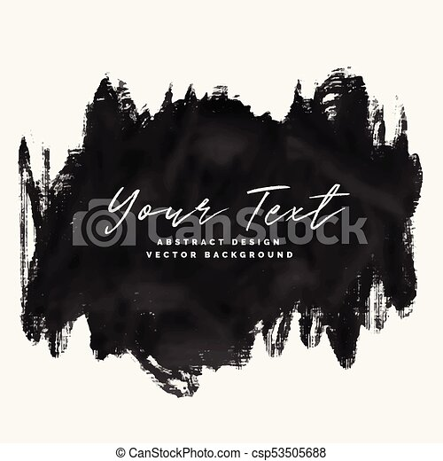 black paint grunge brush stroke vector background rh canstockphoto com paint stroke circle vector paint stroke vector brushes