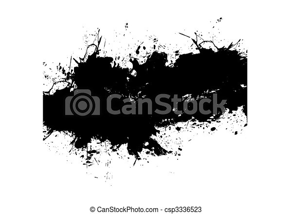 Black Paint Splatter - csp3336523