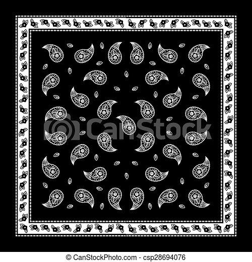 Black Paisley Bandana Simple Pattern Paisley Bandana Simple Pattern Stunning Bandana Pattern