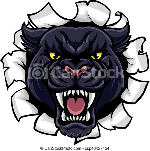black panther background breakthrough a black panther angry rh canstockphoto com