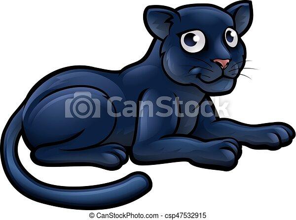 Black Panther Cartoon Character - csp47532915
