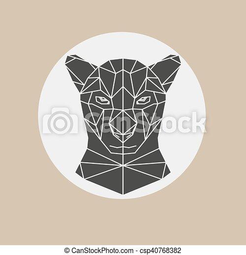 Black panther head - csp40768382