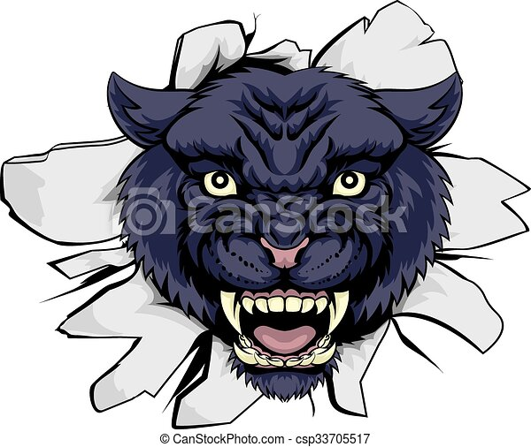 black panther sports mascot a black panther cartoon sports rh canstockphoto com