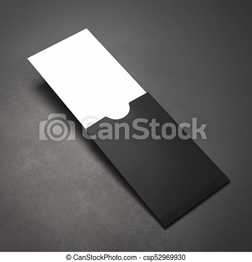 Black paper package with blank business card 3d rendering black black paper package with blank business card 3d rendering csp52969930 reheart Gallery