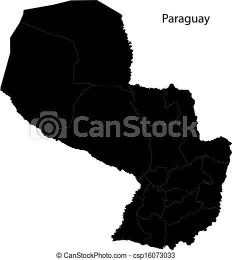 Black Paraguay map - csp16073033