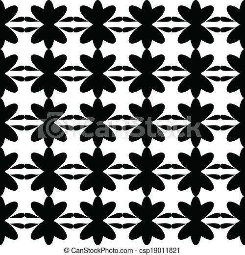 Black pattern floral seamless - csp19011821